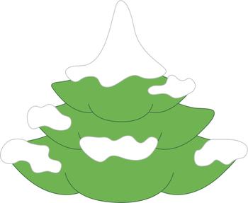Giraffes in Winter Wonderland: Clip Art Graphics Set for Winter / Christmas