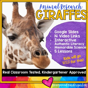 Giraffes ...  Zoo Animal Research Mixed w/ Authentic Literacy Practice!