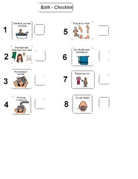 Girl Bath checklist