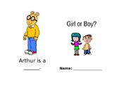 Girl/Boy Sight Word Book