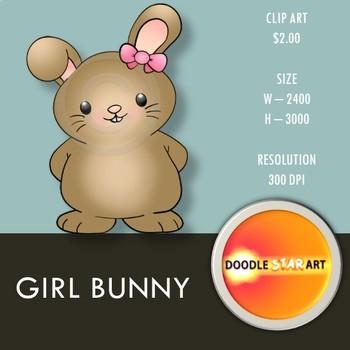 Girl Bunny Clip Art