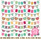 Girl Bunting Clipart Clip Art, Vintage Bunting - Commercia