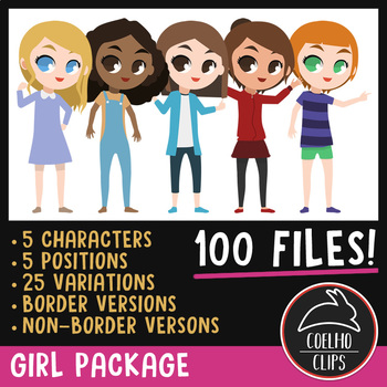 Girl Character Package [Coelho Clips Digital Clipart]
