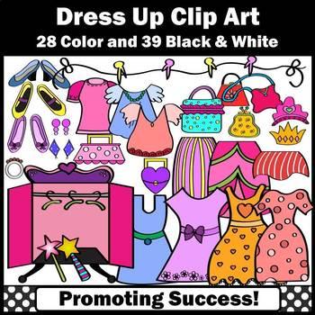 Girl Clipart, Clothing Clip Art, Dresses, Shoes, Purses, Earrings SPS
