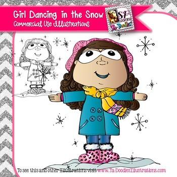 Girl Dancing in the Snow FREEBIE