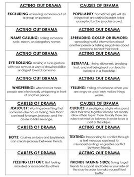 Girl Drama Bingo