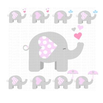 Girl Elephant Clip Art - Elephant Clipart - Animals Clip Art