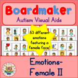 Girl Emotion Feelings Cards - Boardmaker Teen Visual Aids for Autism SPED