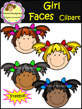 Free  Girl Faces - Clip Art - FREEBIE (School Designhcf)