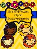 Girl & Flower Power Love4Learning Clipart