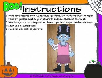 Girl Frankenstein Craftivity