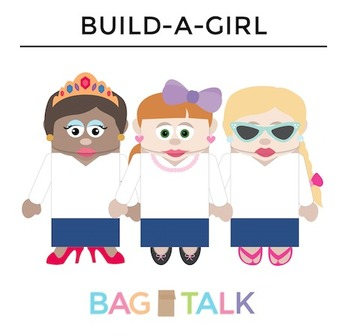 Girl Paper Bag Puppet Cut Outs