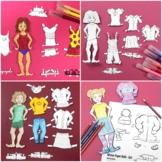 Girl Paper Doll Bundle   All Seasons