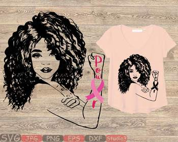 Girl Power Breast Cancer Silhouette SVG Rosie the Riveter babe youth women 864S