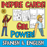 GIRL POWER Inspirational Quote Cards in Spanish and English! Bilingual Craft!
