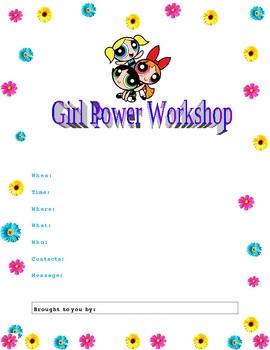Girl Power Workshop Flyer