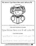 Girl Reading - Name Tracing & Coloring Editable Sheet - #6