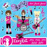 Girl Rockband Clipart