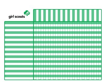 Girl Scout Attendance and Badge Chart