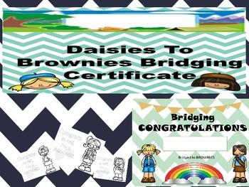 Girl Scout Bridging Certificate