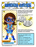 "Girl Scout Brownie ""Making Games"" Superhero Download"