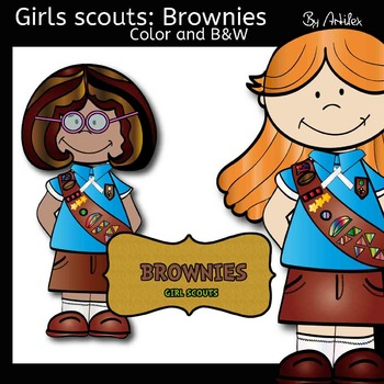 Girl Scout Brownies-Color and B&W- 36 items!
