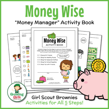 """Girl Scout Brownies - """"Money Manager"""" Activity Pack Bundle - All 5 Steps!"""