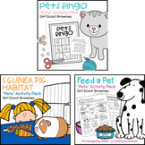 """Girl Scout Brownies - """"Pets"""" Activity Pack Bundle - All 5 Steps!"""