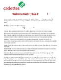 Girl Scout Cadette Troop Welcome Letter