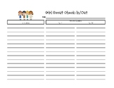Girl Scout Check-In and Out Sheet