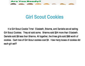 Girl Scout Cookie Problem