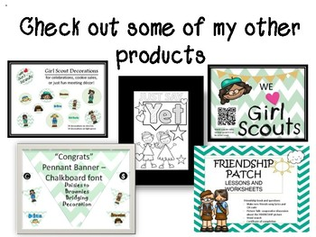 Girl Scout Cookie Tags and Thank you cards