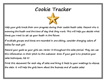 Girl Scout- Cookie Tracker for Booth Sales