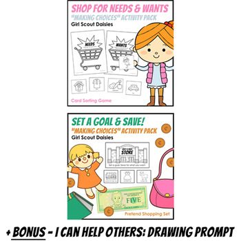 "Girl Scout Daisies - ""Making Choices"" Activity Pack Bundle - All 3 Steps!"