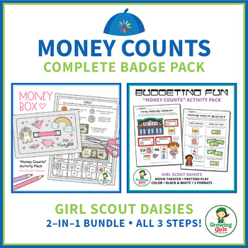 """Girl Scout Daisies - """"Money Counts"""" Bundle - Includes All 3 Steps!"""