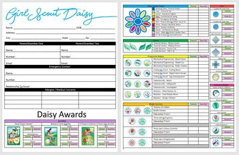 Girl Scout Daisy Badge Tracker - NEW UPDATED BADGES 2019/2020