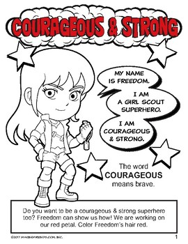 """Girl Scout Daisy """"Courageous and Strong"""" Petal Download"""