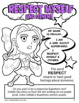 Daisy Petal Respect Myself And Others Coloring Page