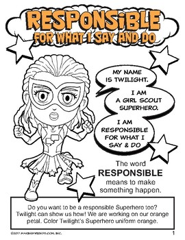 "Girl Scout Daisy ""Responsible for What I Say and Do"" Petal Download"