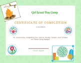 Girl Scout Day Camp Award Certificate