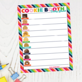Cookie Booth Tally Sheet ABC Printable Download Girl Scout