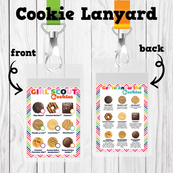 picture about Printable Cookies identify Woman Scouts Influenced Cookie Lanyard ABC Printable Down load Blank Pricing Resolution