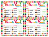 Cookie Thank You Receipt ABC Printable Download Girl Scout