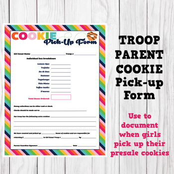 photo regarding Girl Scout Cookies Order Form Printable named Lady Scout Impressed Guardian Cookie Variety LBB Printable Down load