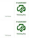 Girl Scout International Day Passport