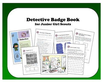 Girl Scout Junior Badge: Detective - Foldable Activity Book