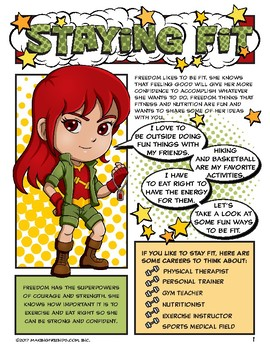 Girl Scout Junior Superhero Staying Fit Download