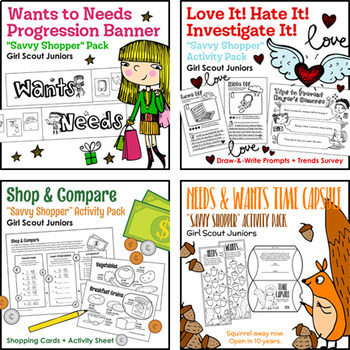 "Girl Scout Juniors - ""Savvy Shopper"" Activity Pack Bundle"