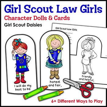 Girl Scout Law Girls: Character Dolls & Cards - Girl Scout Daisies