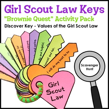 """Girl Scout Law Keys - """"Brownie Quest"""" Discover Key Activit"""